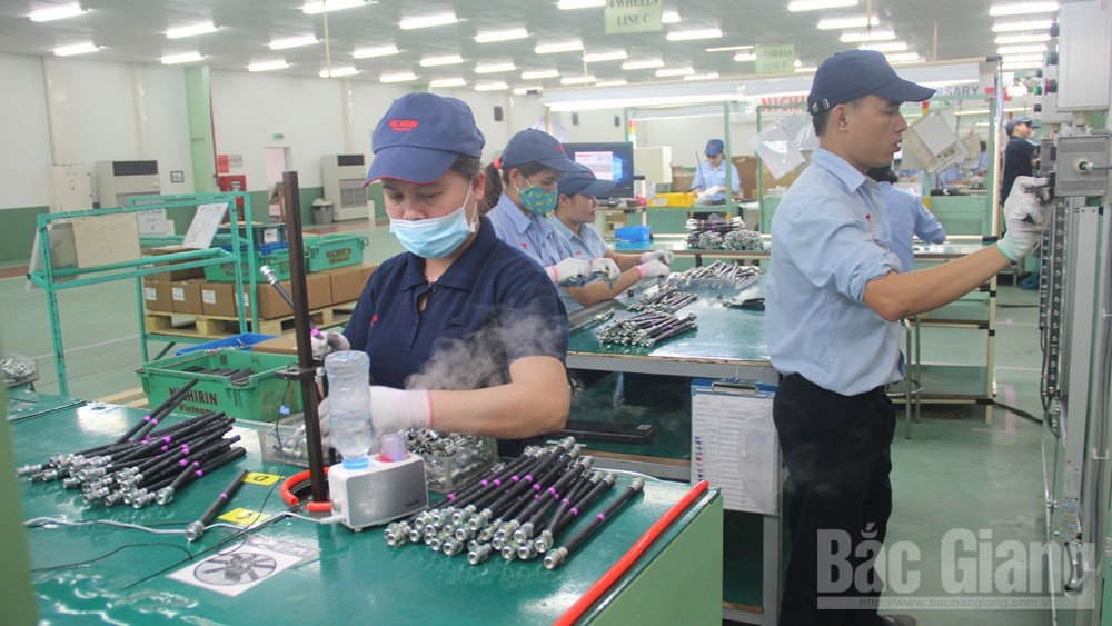 Revenue of enterprises, Bac Giang's IPs, Bac Giang province, industrial parks, total revenue, social insurance