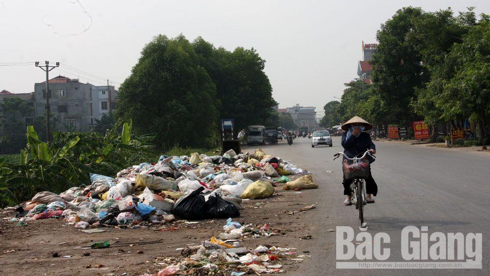 rác thải, thu gom, vận chuyển rác, rác, Bắc Giang, Việt Yên,