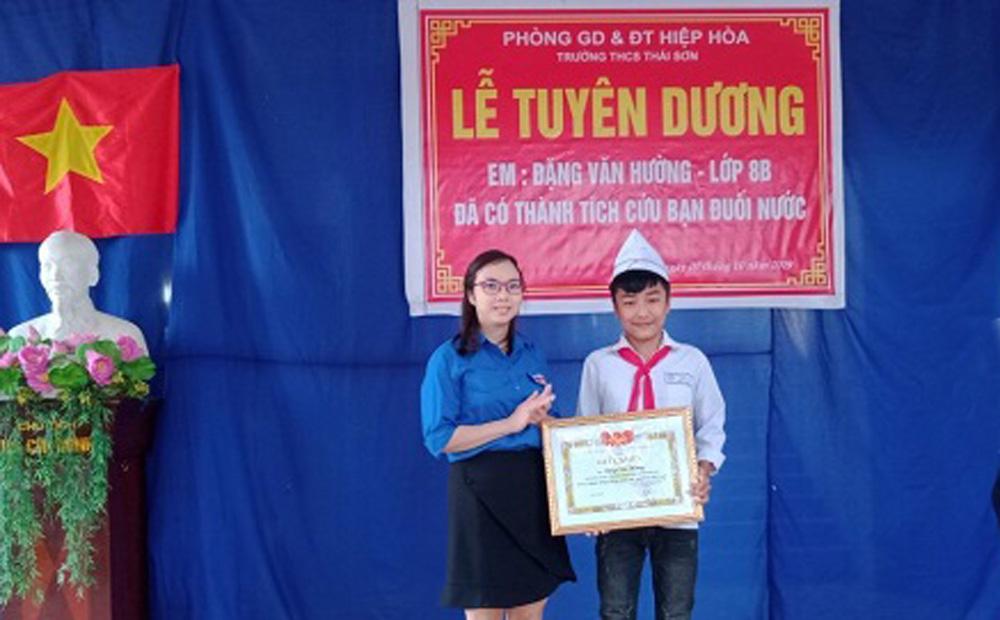 Hiệp Hòa, Tuyên dương, học sinh dũng cảm cứu người đuối nước, THCS Thái Sơn, giáo dục