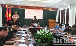 Quân khu 1 kiểm tra công tác chuẩn bị diễn tập khu vực phòng thủ tỉnh Bắc Giang