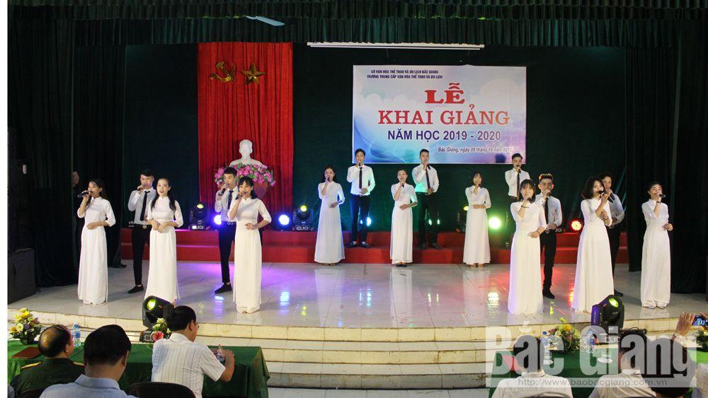 Trường Trung cấp Văn hóa, Thể thao và Du lịch, VHTT&DL Bắc Giang, khai gảng năm học 2019-2020