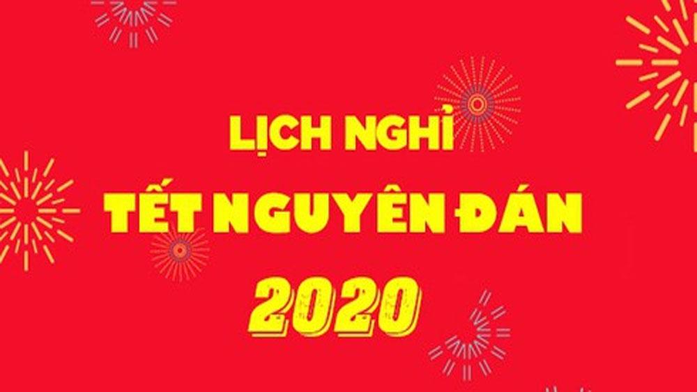 Thủ tướng Nguyễn Xuân Phúc, chốt 7 ngày nghỉ, Tết Nguyên đán Canh Tý 2020