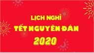 Thủ tướng Nguyễn Xuân Phúc chốt 7 ngày nghỉ Tết Nguyên đán Canh Tý 2020