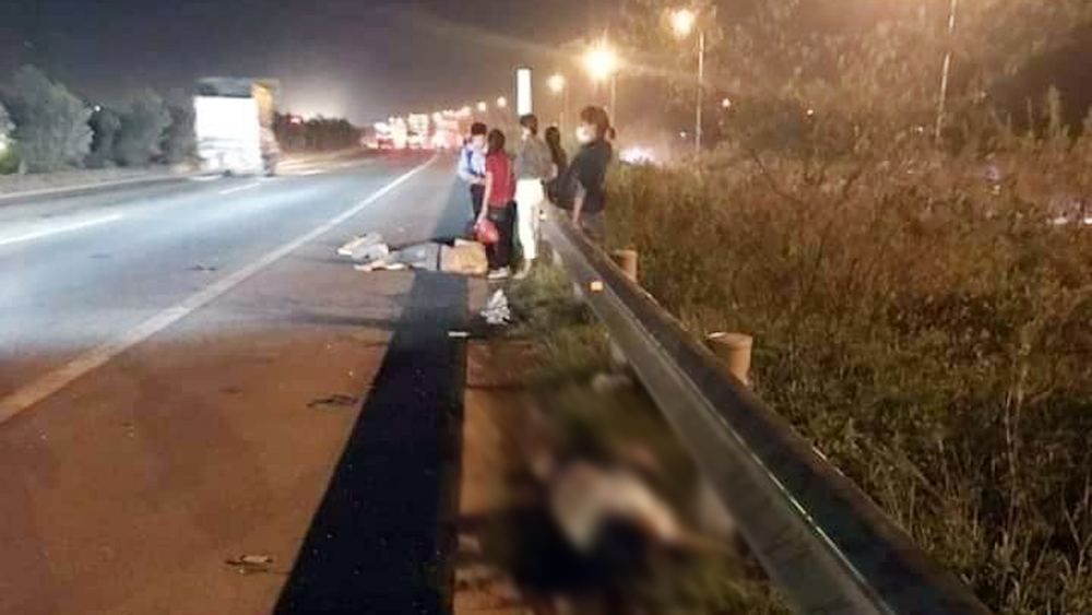 tai nạn giao thông, cao tốc Hà Nội - Bắc Giang, Bắc Giang, băng qua cao tốc