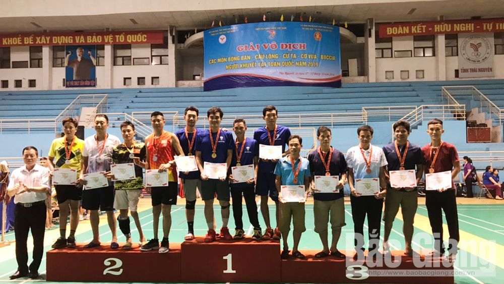 Bac Giang team, many medals, national sport games, people with disabilities, badminton players,  Bac Giang province