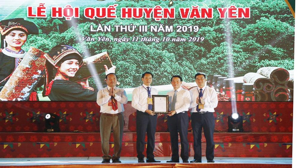Yên Bái, Khai mạc, Lễ hội quế Văn Yên lần thứ III, Quế Văn Yên
