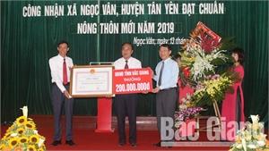 Bắc Giang: Xã Ngọc Vân (Tân Yên) đạt chuẩn nông thôn mới