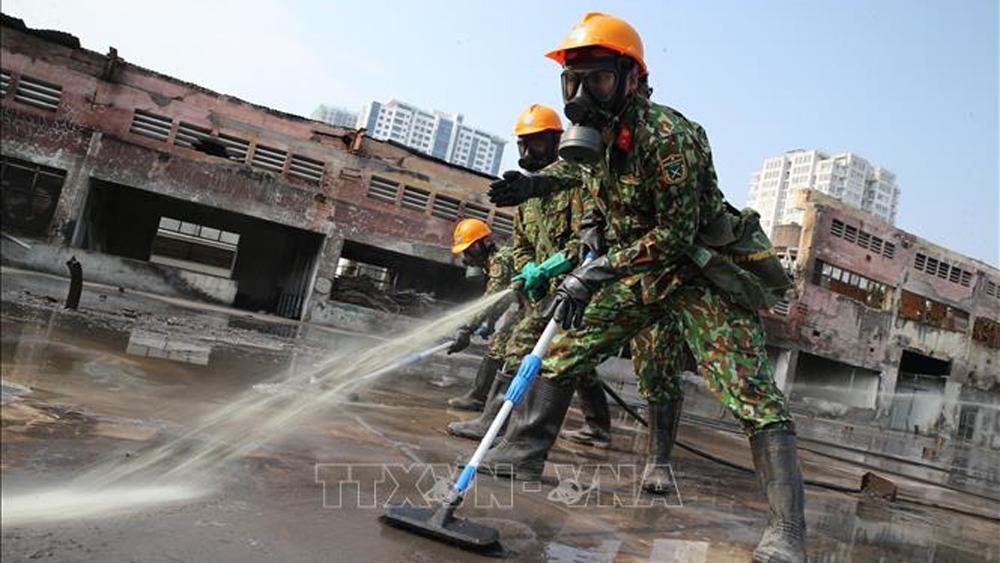 Rạng Đông, phế thải nguy hại, xử lý an toàn, cháy Công ty Rạng Đông