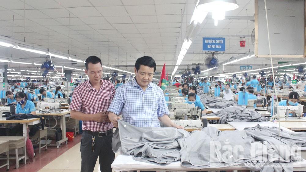 Bắc Giang, thu ngân sách, doanh nhân,  doanh nghiệp, sản xuất, kinh doanh, thuế