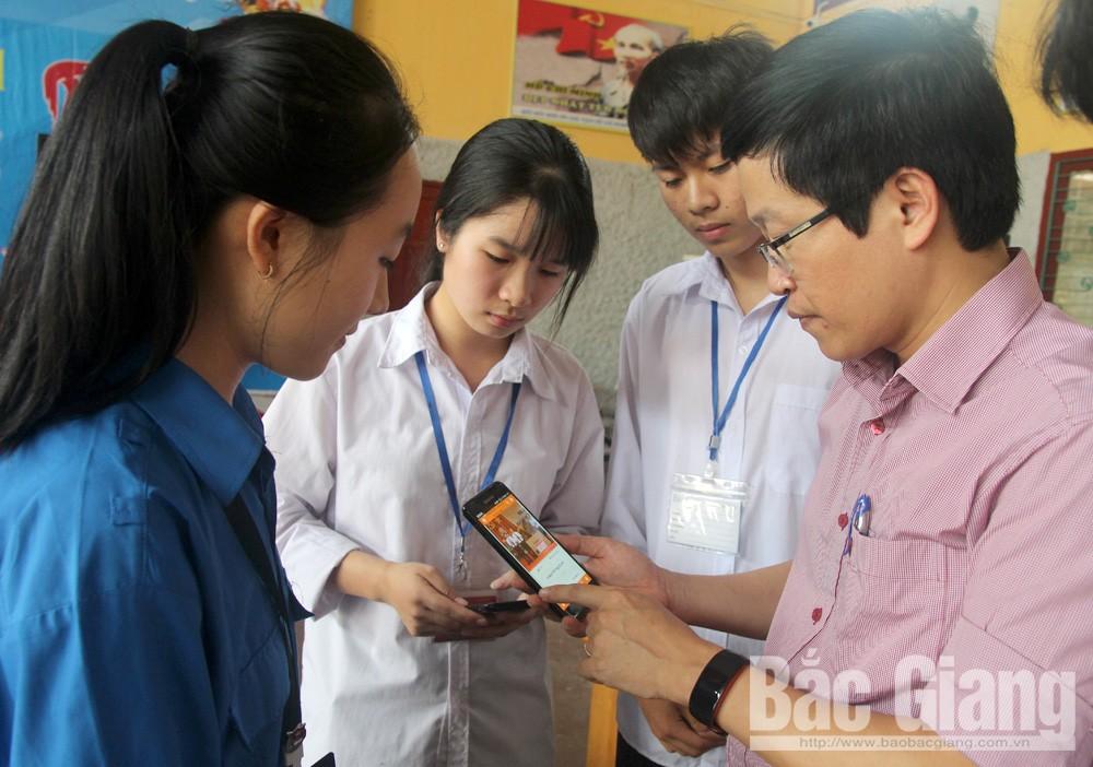 Trường THPT Ngô Sĩ Liên, ứng dụng phần mềm, tự học, giáo dục, báo bắc giang, bắc giang