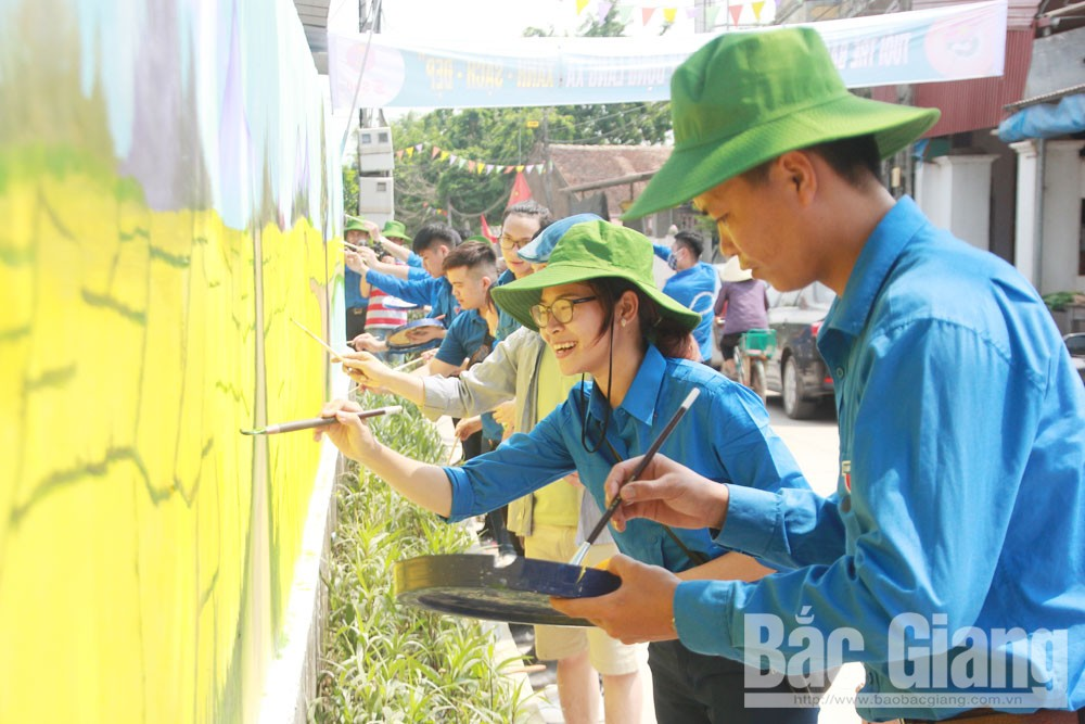 Promoting youth strength, prosperous Bac  Giang, homeland, Bac Giang province, Central Youth Union, voluntary youth strength