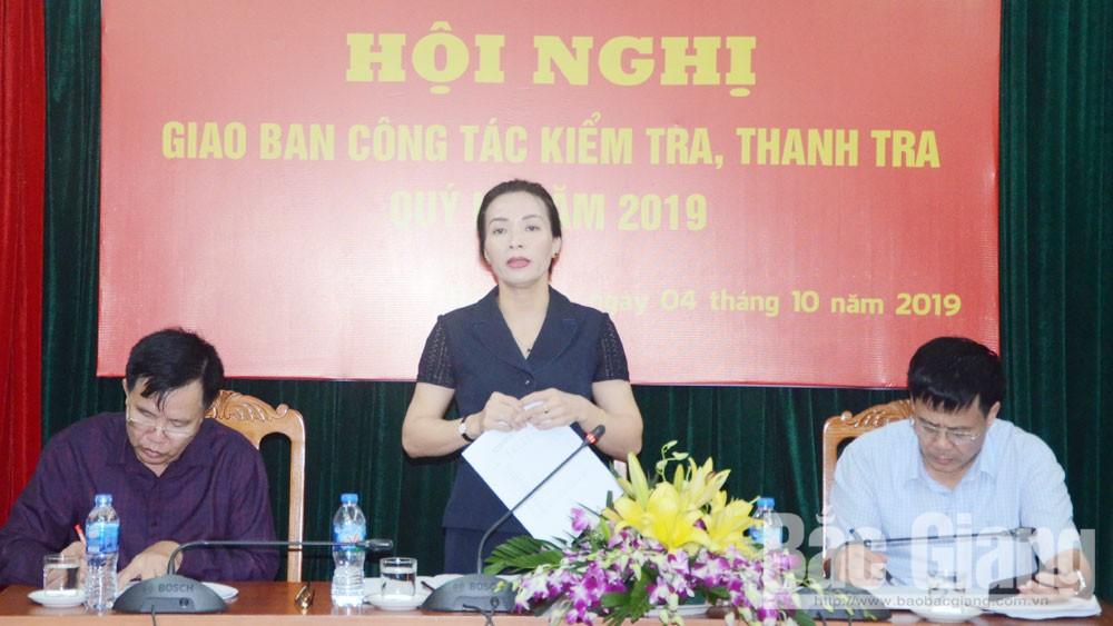 kiểm tra, giám sát, Đại hội Đảng bộ tỉnh, Bắc Giang, ngành Kiểm tra Đảng