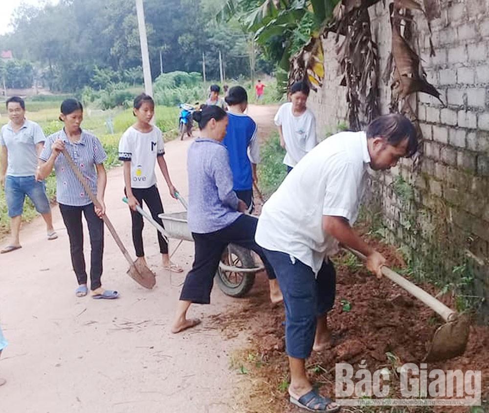 Bắc Giang, Ngày Chủ nhật xanh, Sạch ngõ, đẹp làng, nông thôn