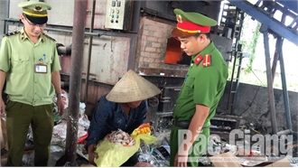 Tịch thu, tiêu hủy 450kg thịt gà đông lạnh không rõ nguồn gốc