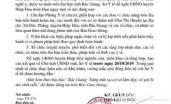 Sở Y tế Bắc Giang đề nghị UBND huyện Hiệp Hòa báo cáo vụ việc cô gái bị mù khi làm đẹp