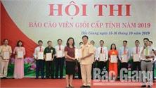 Bế mạc Hội thi báo cáo viên giỏi tỉnh Bắc Giang năm 2019: Thí sinh Lê Thành Văn (Lục Ngạn) giành giải Nhất