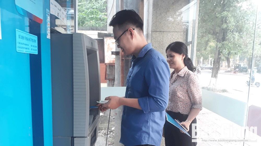 Máy ATM của Vietinbank Chi nhánh Bắc Giang đã hoạt động bình thường