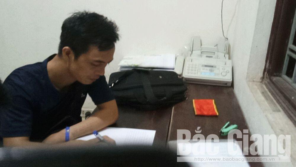 Đào Trọng Tân tại cơ quan điều tra.