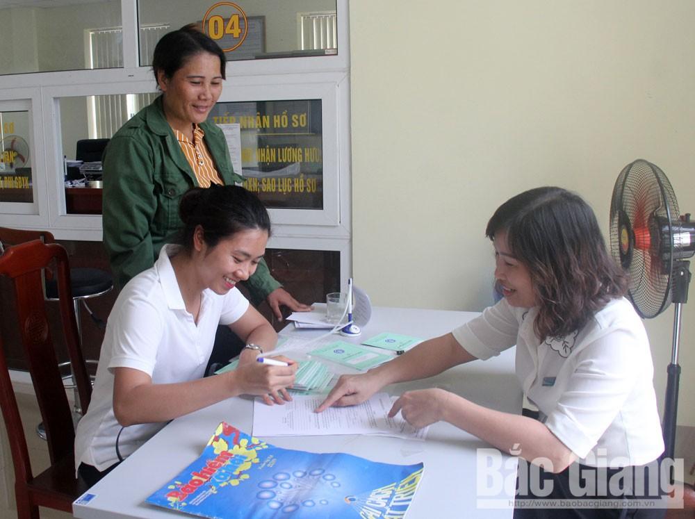 Bắc Giang, Bảo hiểm xã hội, thủ tục hành chính, chất lượng dịch vụ, người dân, doanh nghiệp