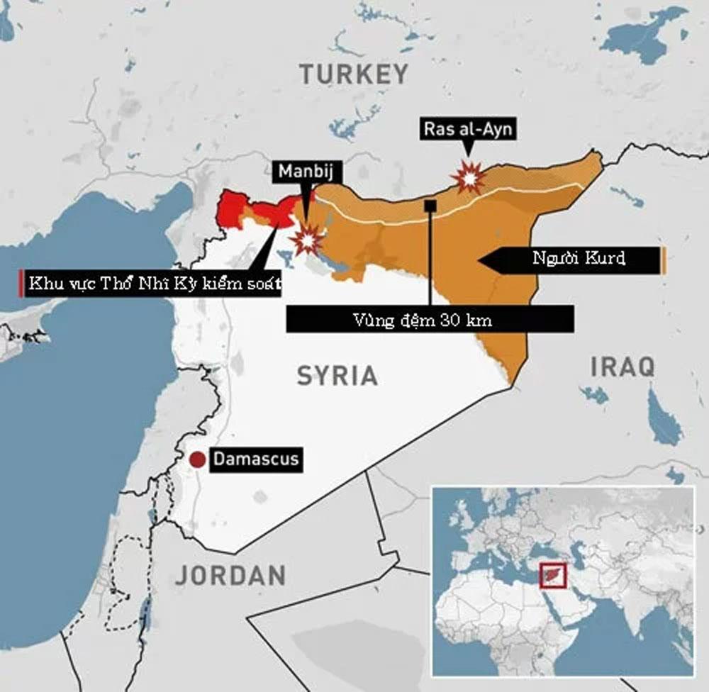 Thổ Nhĩ Kỳ, đình chỉ, chiến dịch quân sự tại Syria