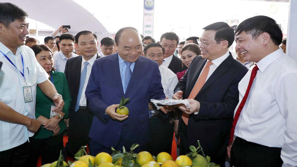 Thủ tướng Nguyễn Xuân Phúc, khai mạc, Triển lãm, thành tựu, 10 năm xây dựng nông thôn mới