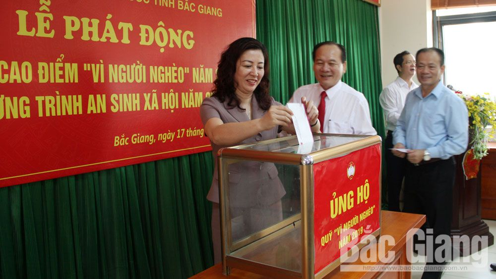 Bac Giang province, Action month, for the Poor, launching ceremony, Fatherland Front Committee,  social security programmes, economic development