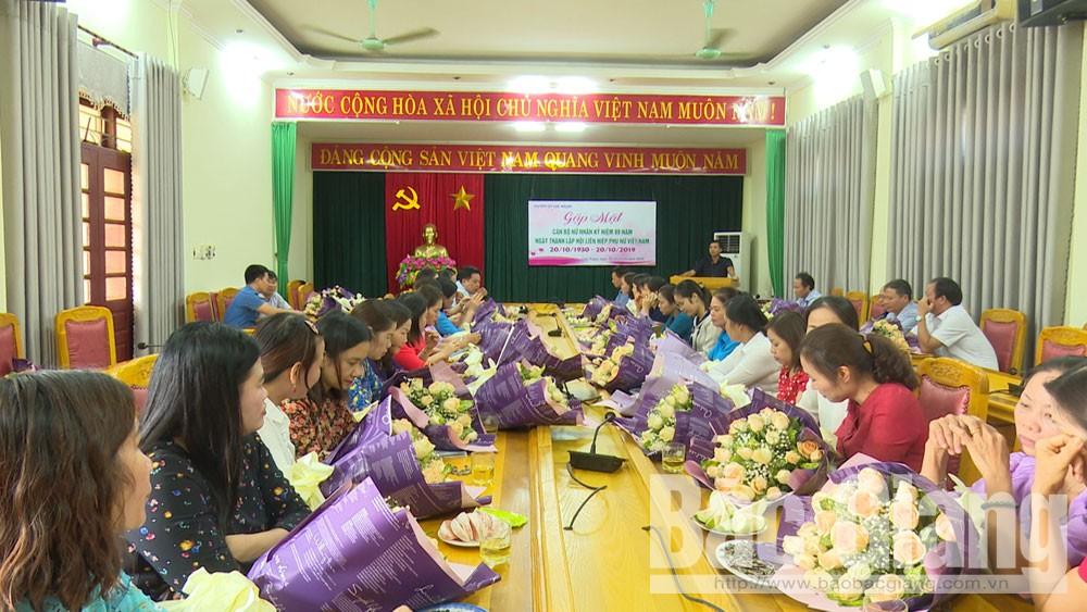 Lục Ngạn, phụ nữ, 20-10, Gặp mặt cán bộ nữ nhân ngày phụ nữ Việt Nam 20-10