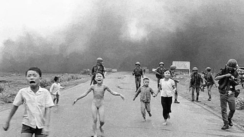 Vietnam War photo, napalm-struck girl, most powerful image, 50 years, The Terror of War, History channel