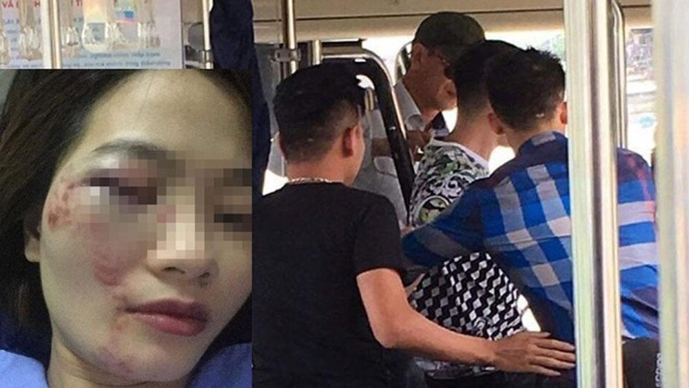 Nhắc nhở, chửi bậy, nữ phụ xe buýt, 4 thanh niên đánh hội đồng