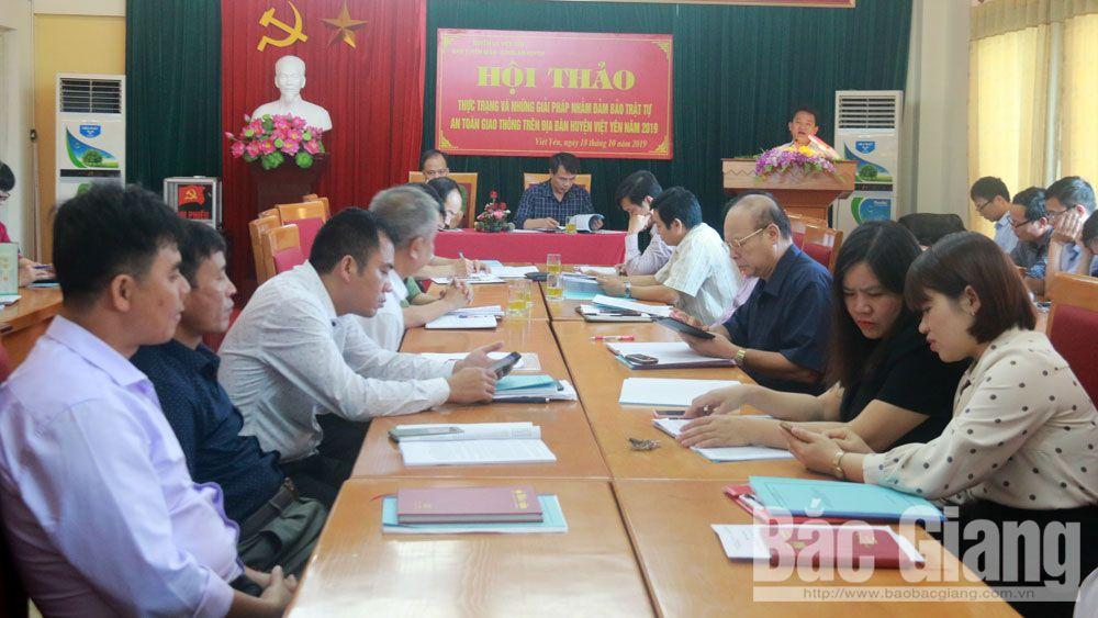 Việt yên, hội thảo, an toàn giao thông, bảo đảm
