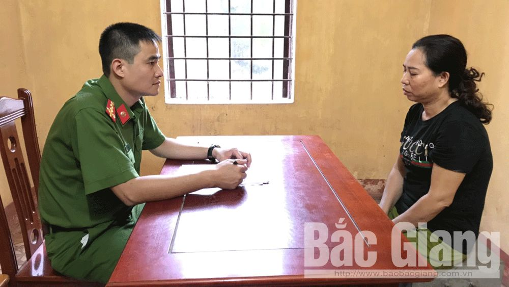 Đánh bạc, xóc đĩa, Phòng Cảnh sát hình sự, Công an tỉnh Bắc Giang, Công an huyện Tân Yên