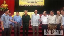 Chủ tịch Ủy ban MTTQ tỉnh Trần Công Thắng tiếp xúc, đối thoại với cán bộ MTTQ cơ sở huyện Lục Ngạn