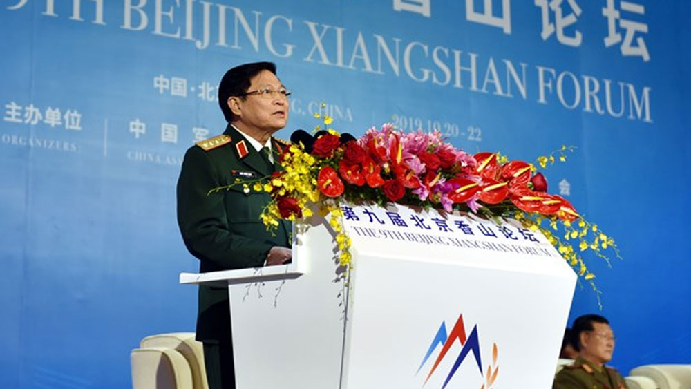 Vietnam, 9th Beijing Xiangshan Forum, high-ranking military delegation, political and security environment,  cooperation mechanisms
