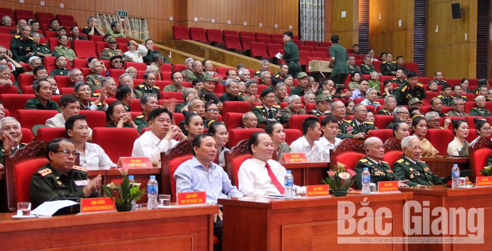 Bắc Giang, gặp mặt kỷ nệm, 70 năm ngày truyền thống quân tình nguyện, chuyên gia quân sự Việt Nam tại Lào tỉnh Bắc Giang