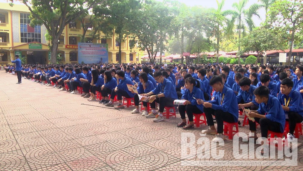 Yên Dũng, tuyên truyền, phòng chống ma túy, học đường