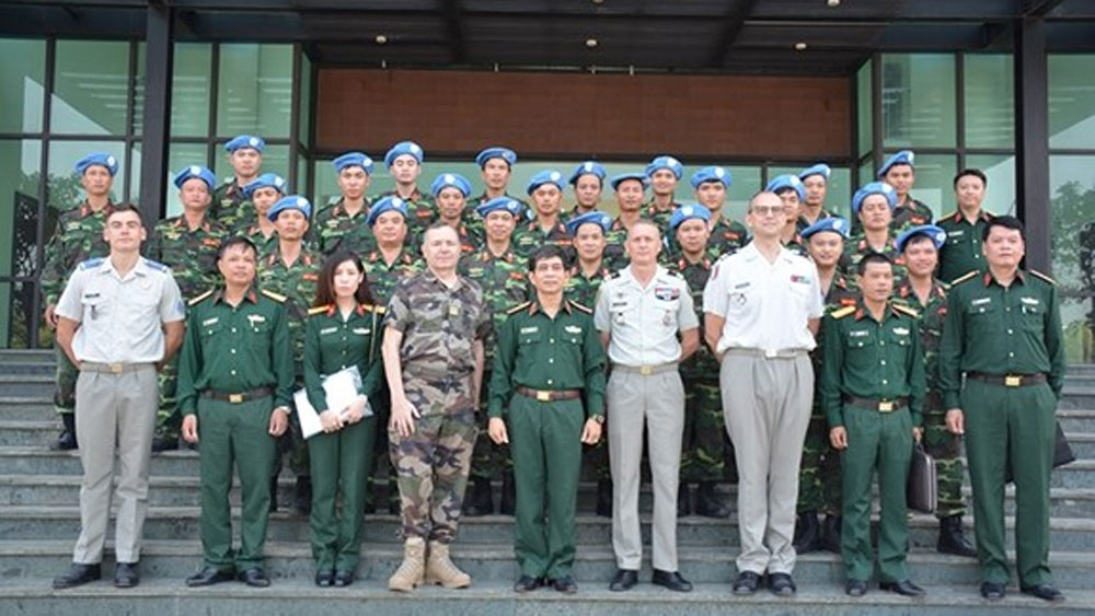 Vietnam, France, peacekeeping cooperation, peacekeeping sapper force, active participation, opening ceremony
