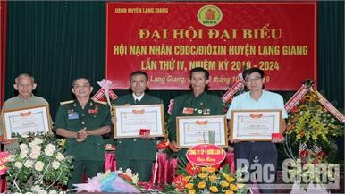 Ông Nguyễn Xuân Tiến tái cử Chủ tịch Hội Nạn nhân chất độc da cam/DIOXIN huyện Lạng Giang
