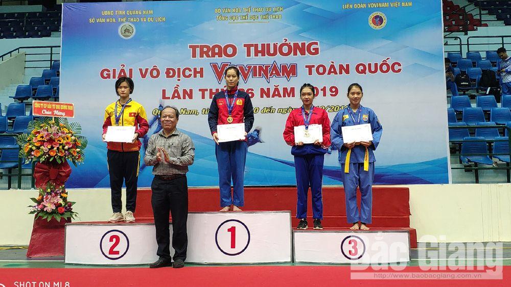 Vô địch Vovinam toàn quốc 2019, Bắc Gang, 3 huy chương