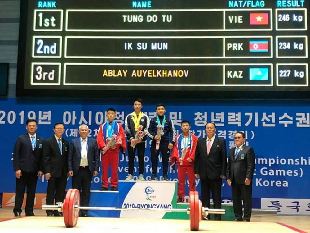Vietnam, 7 golds, Asian, youth weightlifting championship, Vietnamese lifters, Asian Youth, Junior Weightlifting Championship
