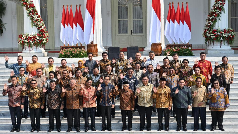 Tổng thống Indonesia , công bố nội các mới