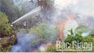 Huyện Yên Dũng diễn tập thực binh chữa cháy rừng