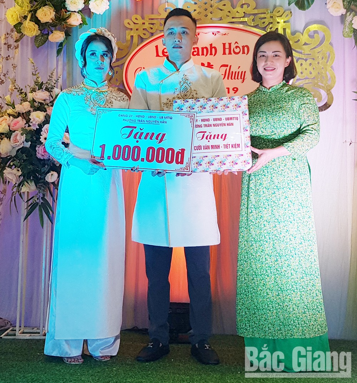 Phường Trần Nguyễn Hãn,đám cưới văn minh, tiết kiệm, TP Bắc Giang