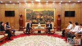 Đoàn công tác Cục Đầu tư và Thương mại Ba Lan thăm, làm việc tại Bắc Giang