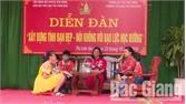 Yên Dũng tổ chức diễn đàn về tình bạn, phòng chống bạo lực học đường