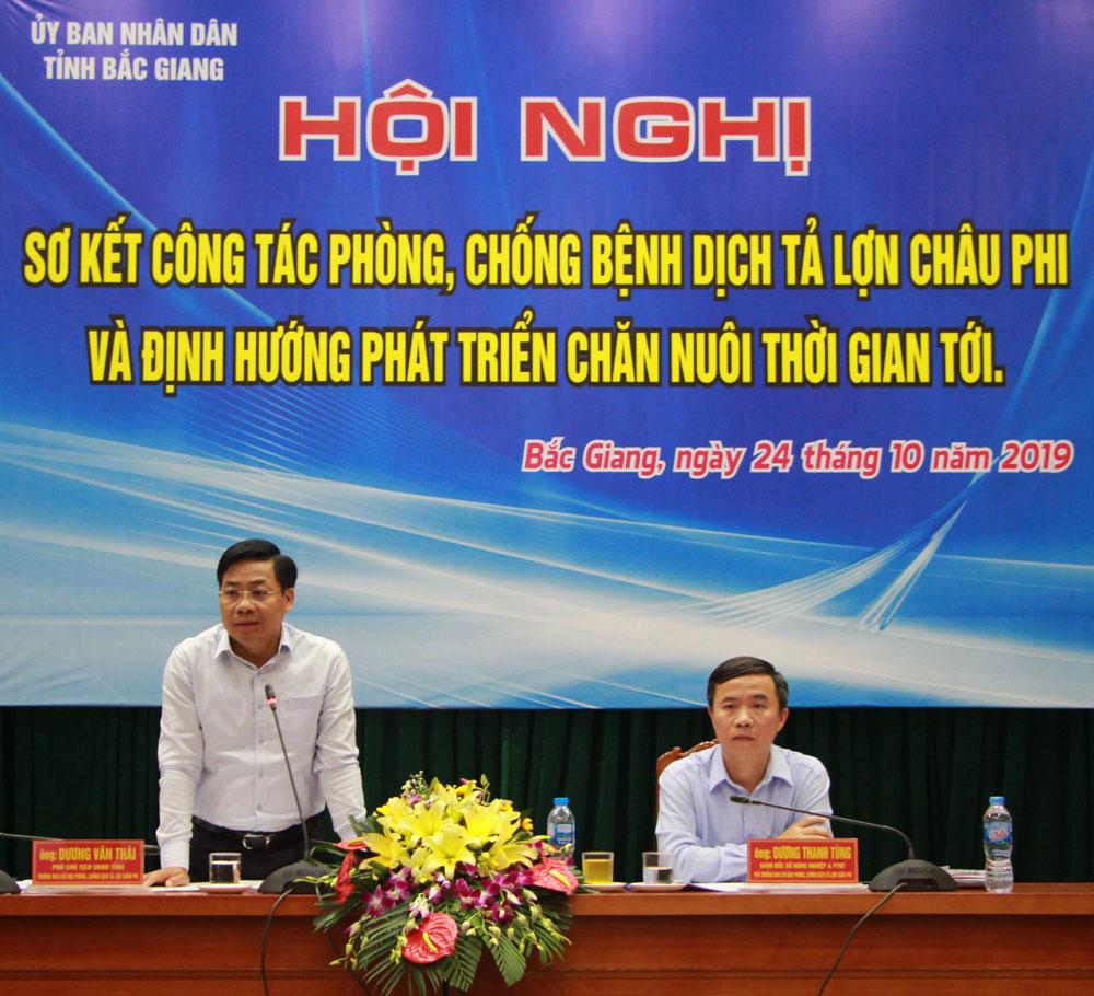 Bắc Giang, dịch tả lợn châu phi, bao vây ổ bệnh, tái đàn