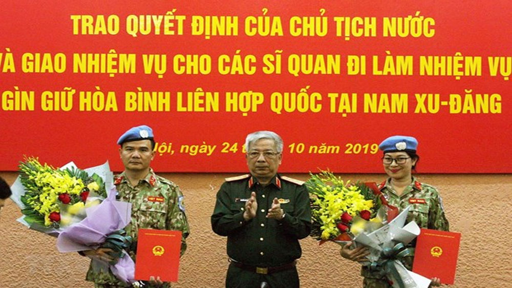 Two more officers, UN peacekeeping mission, South Sudan, Vietnam Peacekeeping Department, Defence Ministry, UN Mission