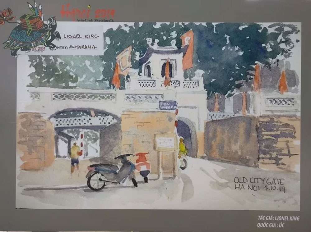 Sketching artists, love for Hanoi,  Hanoi lovers,  precious images, Urban Sketchers Hanoi', cultural heritage