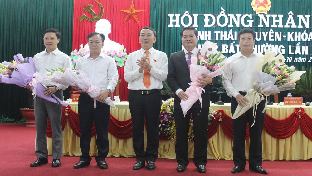 Ông Lê Quang Tiến được bầu giữ chức Phó Chủ tịch UBND tỉnh Thái Nguyên