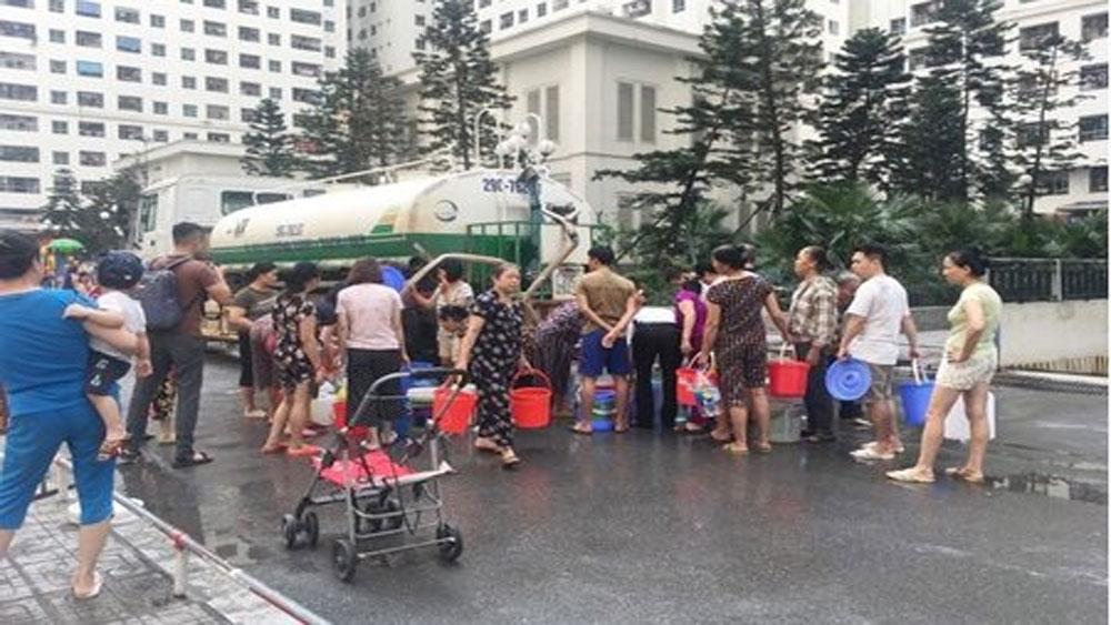 Công ty cổ phần Đầu tư nước sạch Sông Đà , xin lỗi người dân,bị ảnh hưởng của sự cố