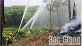 Lục Ngạn diễn tập thực binh chữa cháy rừng